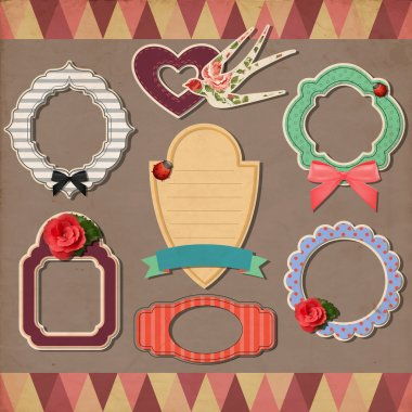 Vintage Frames, vector illustration stock vector
