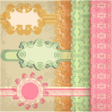 Retro background, vector illustration stock vector