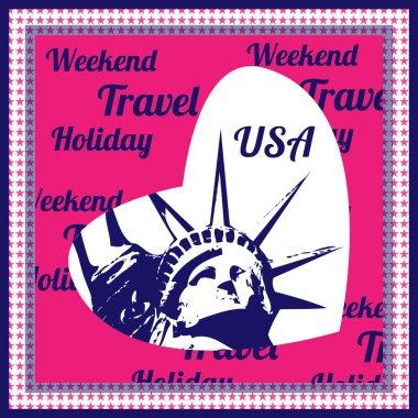 USA, I love you. Vector stock vector