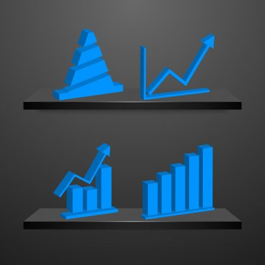 Charts and Graphs Collection. Business statistics stock vector