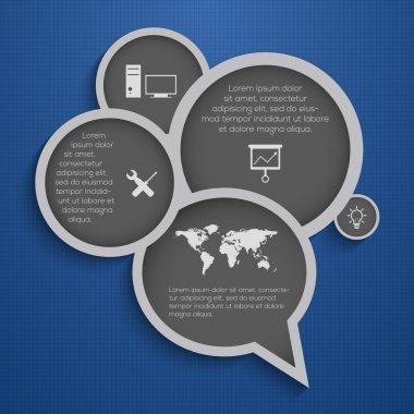 Modern business bubble speech template style. stock vector
