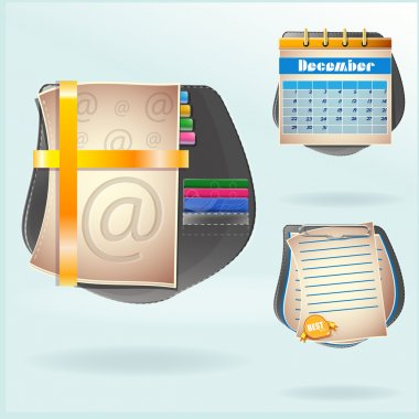 Set of diary book. Vector
