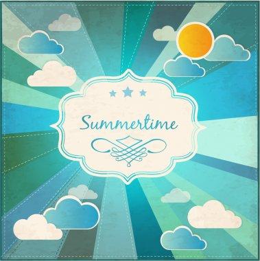 Summer grunge textured background. Vector stock vector