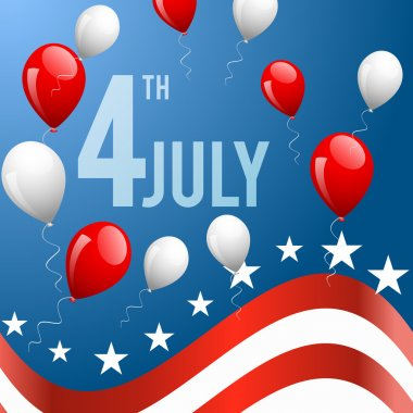 Independence Day- 4 of July vector background stock vector