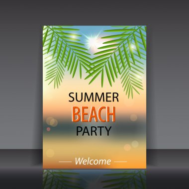 Summer beach party. vector illustration stock vector
