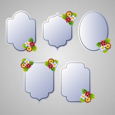 Set of flora frames vector stock vector