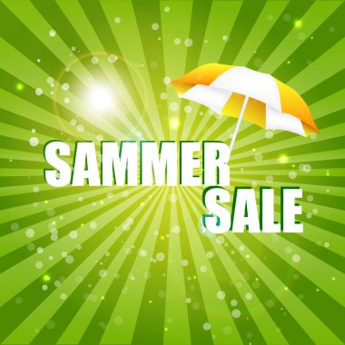Summer sale. Vector illustration stock vector