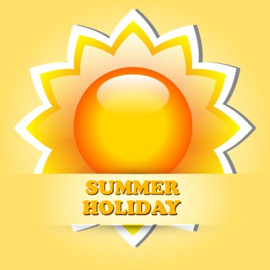 Beautiful summer vector illustrations stock vector