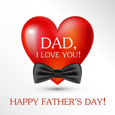 Happy fathers day card. Vector stock vector