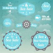Vektor Set von Seezeichen
