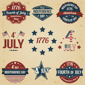 Vector independence day badges