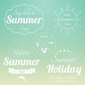 Retro summertime background vector illustration