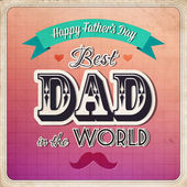 Happy fathers day card vintage retro