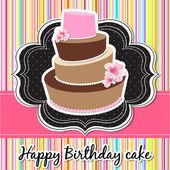 vektorové šťastné narozeniny karta s narozeninový dort.