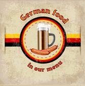 německé menu vektor šablona