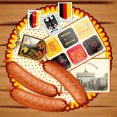 Vintage German postcard vector illustration