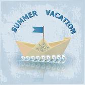 Summer vacation illustration vector illustration