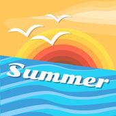 letní dovolená vektorové pozadí