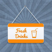 oranžová - bílá deska s nápoji podepisuje