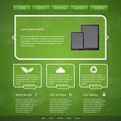 Webové stránky šablony vektorové ilustrace