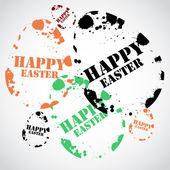 glückliche Ostern Stempel Vektor Illustration