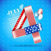 USA a függetlenség napja illusztráció