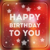 Boldog születésnapot poszter vektoros illusztráció