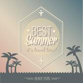 Vintage summer poster vector illustration