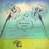 Summer time image vector illustration