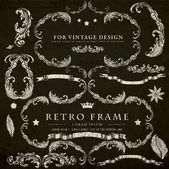 Vintage design elements set