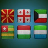 Vector flags set vector illustration