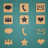 Communication icons set vector illustration