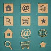 webové ikony nastavit. Internet ikony kolekce.