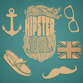 Hipster icon set vector illustration
