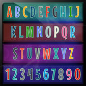 Artistic alphabet set vector illustration