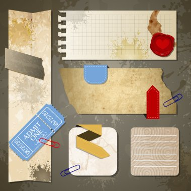 Old paper textures vector illustration stock vector