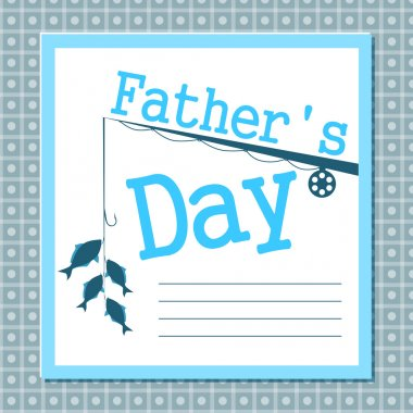 Father's day card stock vector