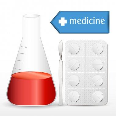 Illustration of medical equipments stock vector