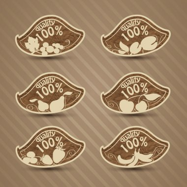 Vector set of quality food stock vector