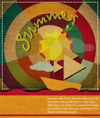 Summer background vector illustration  . stock vector