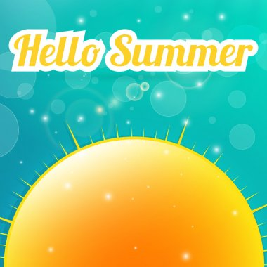 Summer background. Vector illustration. stock vector