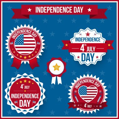 Vector independence day badges stock vector