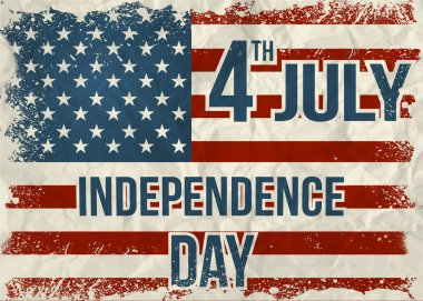 Independence Day Background. Abstract, grunge, vector.