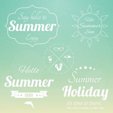 Retro summertime background vector illustration stock vector