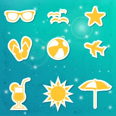 Set of travel icons stock vector