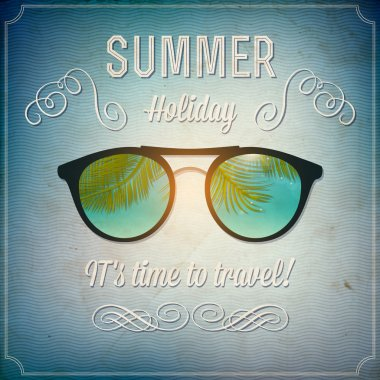 Retro summertime background vector illustration stock vector