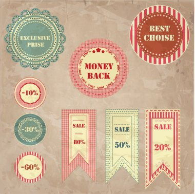 Sale Signs vector illustration stock vector
