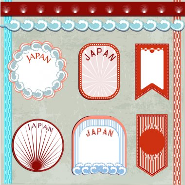 Japan vintage elements vector illustration stock vector