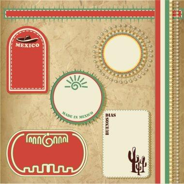 Mexico vintage elements vector illustration stock vector