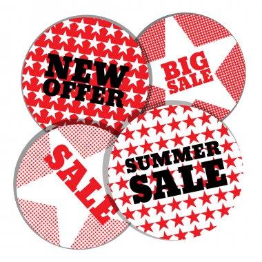Summer sale emblems vector illustration stock vector
